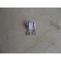 Brinco Quadrado Pendurado Zirconia Prata 950 Frete Gratis