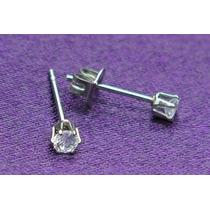 Brinco De Aço Zirconia 3mm - Lindos E De Qualidade