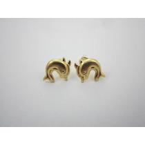 Brincos Golfinhos Em Ouro 18k - 1.1gr - Frete Grátis