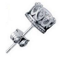 Brinco Masculino 8mm Zircônia Em Prata 925 - Unidade