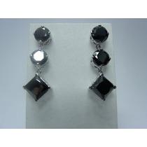 Jóia Brinco Diamante Negro Mossanite Natural