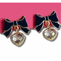 Brinco Laço Coração - Betsey Johnson Earrings