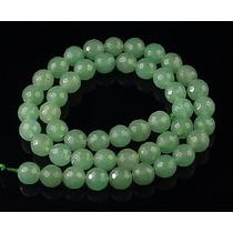 Jade Verde Agua Bola Esfera Facetada 8mm Teostone Colar 1835