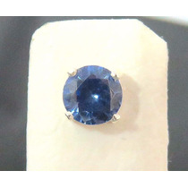 Galero5- Conjunto Brinco E Colar Prata Maciça 950 Pedra Azul