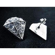 Brinco Diamante Masculino Grande Com Strass Frete Grátis