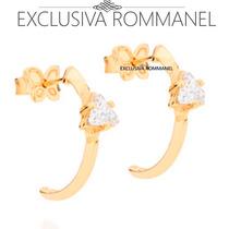 Rommanel Brinco Meia Argola Zirconia Triangular Branc 525399