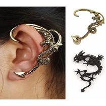 Brincos De Orelha Inteira Ear Cuff Dragão