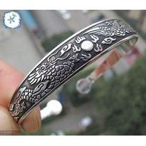 Bracelete Prata Tibetana, Fênix, Dragão