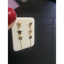 Brinco Estrela Em Ouro 750-18k Com Garantia