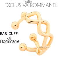 Rommanel Ear Cuff Meia Argola Losango Brinco Fol Ouro 525328