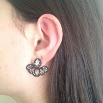 Brinco Ear Cuff Com Banho Negro