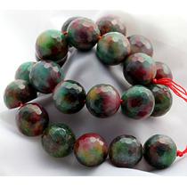 Jade Natural Cores Bola Esfera Facetada 18mm Teostone 37