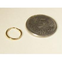 Monreale Charmosa Mini Argola Em Ouro 18k Fio Redondo