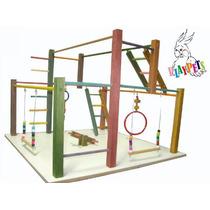 Playground Parquinho Gigante P/ Calopsitas, Aves + Brinde!!