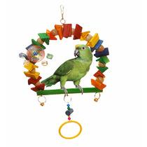 Poleiro Brinquedo Arco Argola Papagaio Calopsita G 33x33 Cm
