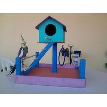 Promoção Playground + Transporte +3 Brinquedos P/ Calopsita
