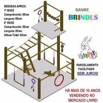 Playground Parquinho Duplex Gigante Natural Calopsita+brinde