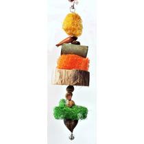 Kit Com 3 Brinquedos Tipo Móbile Para Papagaios E Calopsitas