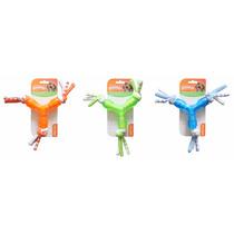 Brinquedo Mordedor Borracha Estrela Com Corda Pet Shop Cores