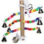 Brinquedo De Corda E 6 Sinos Para Periquitos. Cacatuas. -