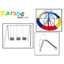 Conjunto Folia 04 Brinquedo, Balanço Infantil, Escorregador
