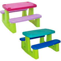 Mesacom Cadeira/ Bancosinfantilplástica Pic Nic Tramo