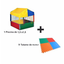 Piscina De Bolinha 1,5 X1,5 + Tatames. Play Granud! Brinqued