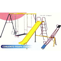Conjunto Poupa Espaço - Playground - Brinquedos Metalicos