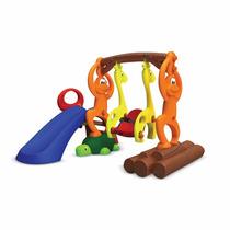 Playground De Plástico Infantil Zooplay Bandeirante Parque
