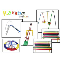 Conjunto Feliz -brinquedo Infantil, Banco, Balanço, Gangorra