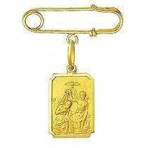 Nelcy Joias Alfinete E Medalha De Batismo Em Ouro 18k 750