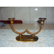 Castiçal Em Bronze P/ 2 Velas