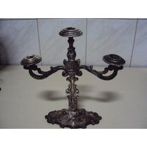 Candelabro - Castiçal P/ 3 Velas Em Metal