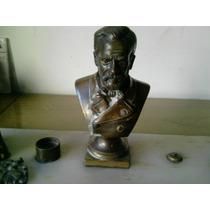 Tinteiro Bronze Com Base Em Marmore. ( Busto Do Pasteur)