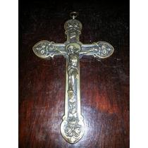 Crucifixo De Igreja De Bronze, Séc. Xix..