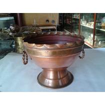 Lindo Cachepo Antigo De Bronze