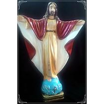Jesus Cristo Redentor - 30cm - Escultura - Linda Pintura