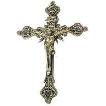 Crucifixo Parede Em Bronze Presente Decoração Jesus Cristo