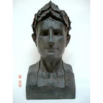 Escultura Italiana Busto Centurião Imperador Romano Raridade