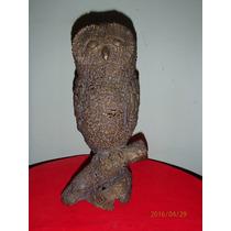 Estatua Antiga Coruja Em Bronze Muito Bonita,bem Conservada.