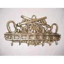 Porta Chaves Em Bronze Todo Trabalhado Chave Cruzada 7 Pinos