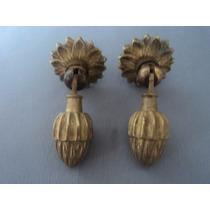 2 Puxadores Antigos Em Bronze Para Móveis (lote 462)