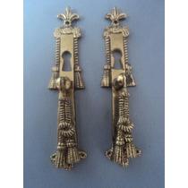 2 Puxadores Antigos Em Bronze Para Móveis (lote 465)