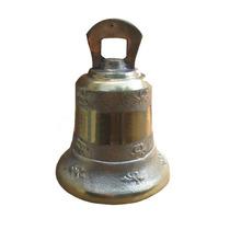 Sino Em Bronze Decorado 13 Cm Diâmetro