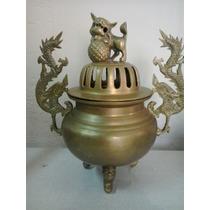 Vaso Japonês De Bronze Para Incenso