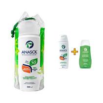 Anasol Kit Protetor Solar Fps50 200ml + Gel Pós-sol 150g