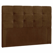 Cabeceira Cama Box Casal Painel Clean 1,40m Suede Marrom