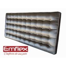 Cabeceira Cama Box Veludo Efeito Metalizado - Capitonê Casal