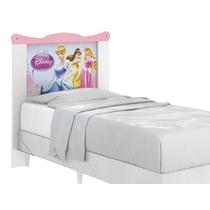 Cabeceira Para Cama Box Infantil Princesas Disney-pura Magia