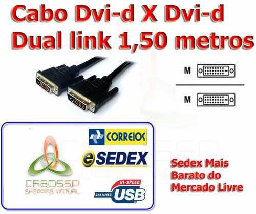 Cabo Monitor Dvi-d X Dvi-d Dual Link Lcd Digital 1,5m Doura